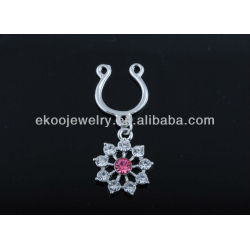 Free Shipping Clip on Fake Nipple Ring Body Jewelry