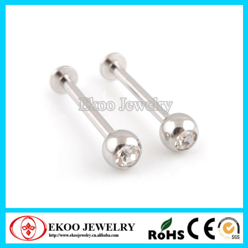 316l surgical steel cheek piercing extra long labret with for Plastic cheek piercing jewelry