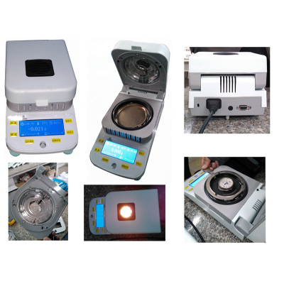 halogen lamp digital rapid laboratory moisture analyzer