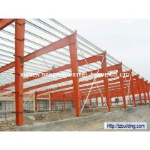 Red Color One Layer Steel Structure Building