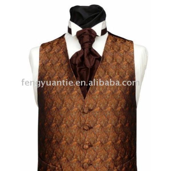 Cheap microfiber brown waistcoats men