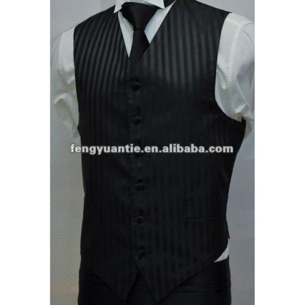 Dark stripe microfiber waistcoat