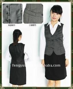 donne cotone gilet uniforme