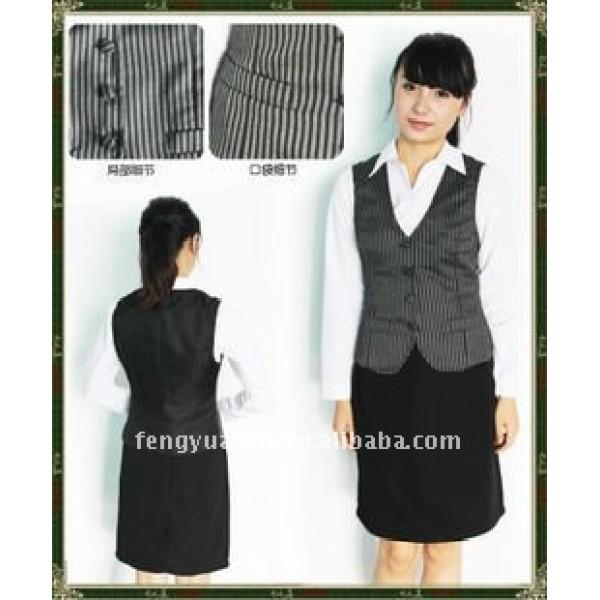 de la mujer de algodón uniforme chaleco