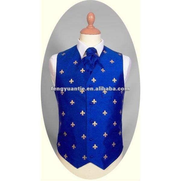 späteste Westeweste des königlichen Blaus der Art und Weise silk