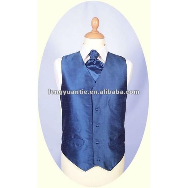 navy silk vest waistcoat