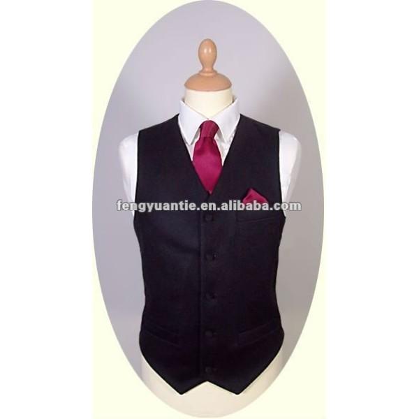 chaleco negro del chaleco de los hombres formales