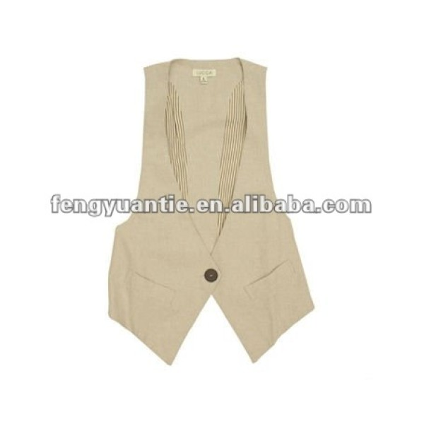 ladys christmas gift beige vest