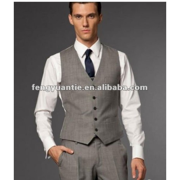 slim fit waistcoat 100% T/R cheap vests for men