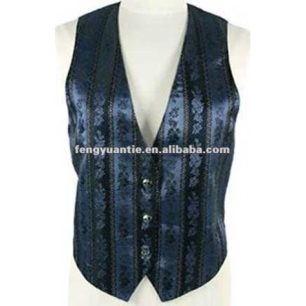 latest fashion royal blue silk vest waistcoat