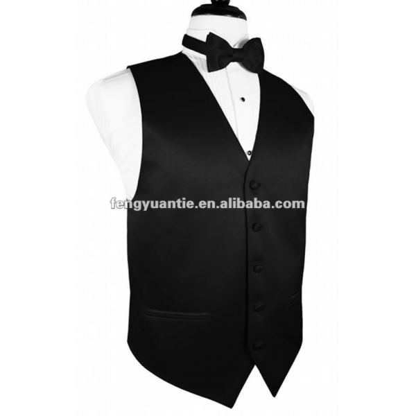 Men`s fashion black evening waistcoat