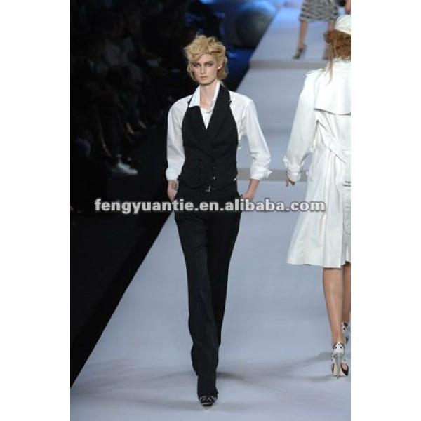 Fashion black vest suits women