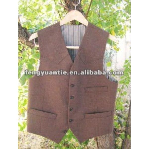 de moda para hombre de borgoña chalecos de seda