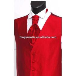 Baratos men's poliéster vermelho colete de seda