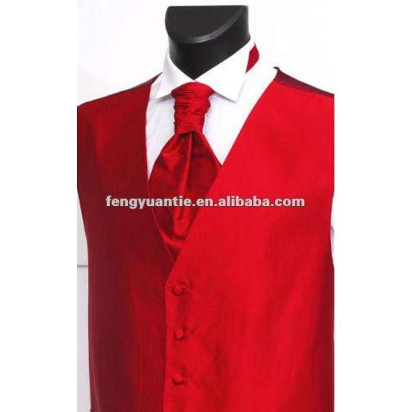 Rote silk Weste des preiswerten Mens-Polyester