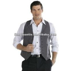 Cooling mens polyester satin vest waistcoat