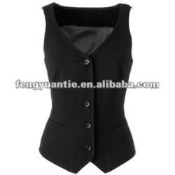 waistcoat 100% preto das mulheres das vestes do menino do algodão