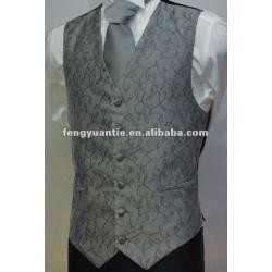 gilet 100% et cravate blancs de mariage de polyester