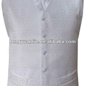 maglia bianca 100% di cerimonia nuziale del poliestere con il legame