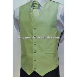 cravate 100% blanche de gilet de mariage de polyester
