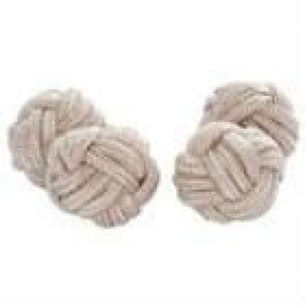 colorful polyester knot elastic silk knot cufflinks
