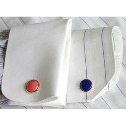 polyester fabric fashion mens cufflinks