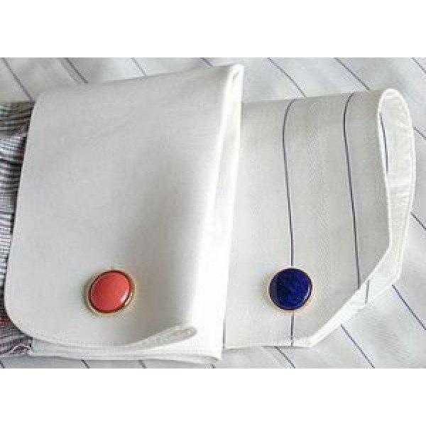 Polyester-Gewebeart und weise Mensmanschettenknöpfe