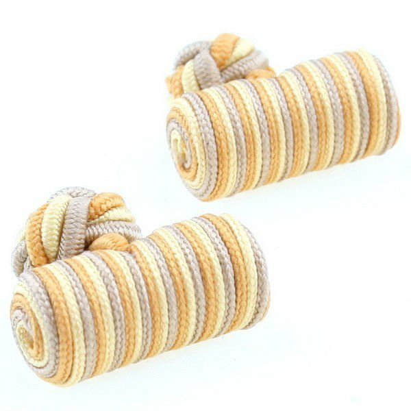 Enviroment friendly mens silk knot cufflinks
