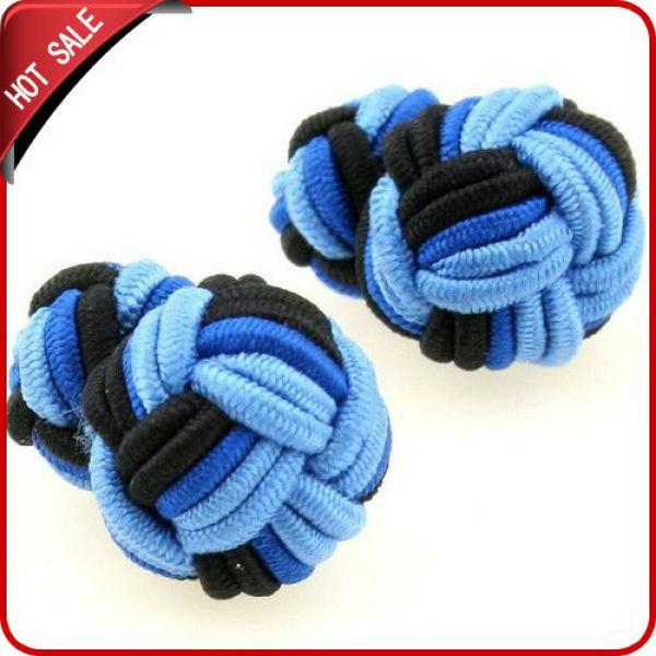 2012 fashion mens silk knot cufflinks