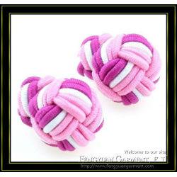 2012 fashion mens silk custom cufflinks big and small
