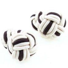 bonito regalo de empresa de la bola doble de seda gemelos para los hombres