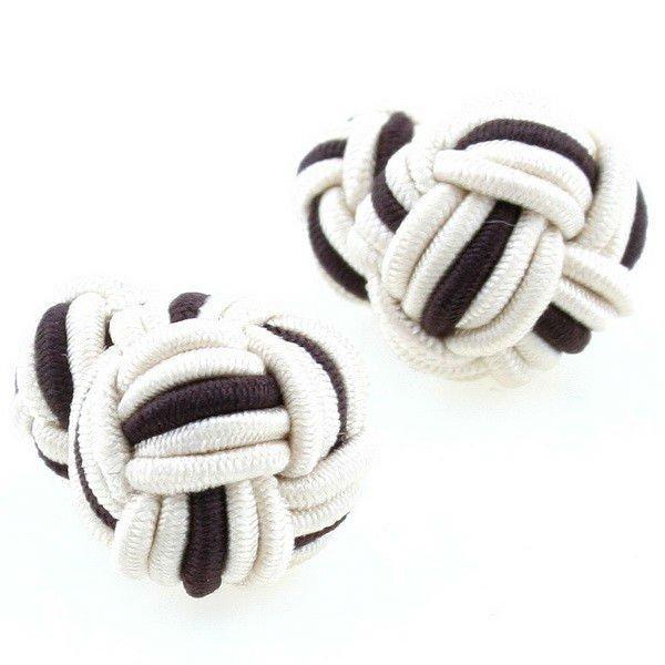 Nice business gift double ball silk cufflinks for men