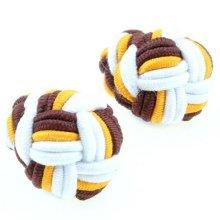 El mejor vendedor ronda doble nudo de seda, gemelos hechos a mano
