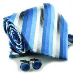 2012 fashion mens tie set with cufflinks