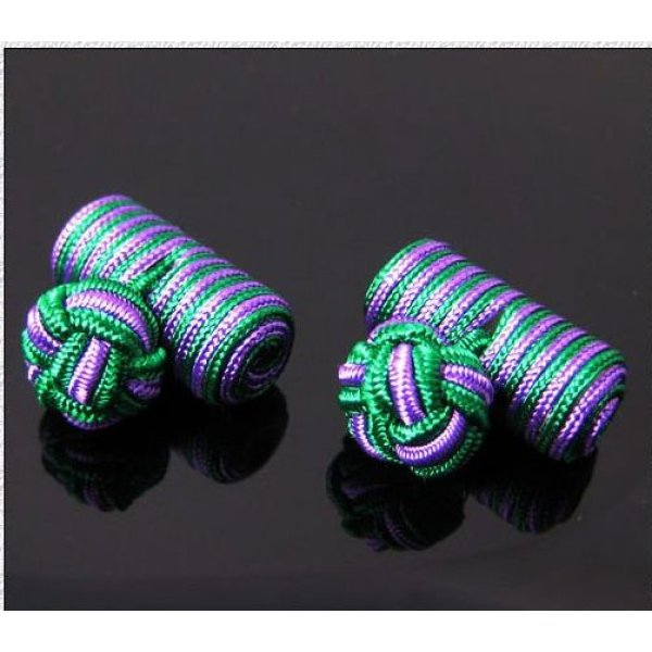 new combination silk kont cufflink design