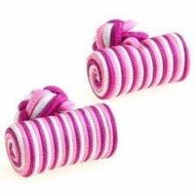 De soie rose baril, balle boutons de manchette élastique