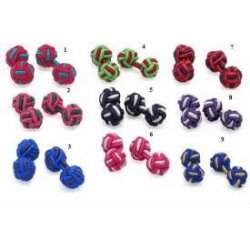 colorful polyester knot cufflinks