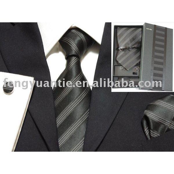 Krawattensatz der silk gesponnenen Männer