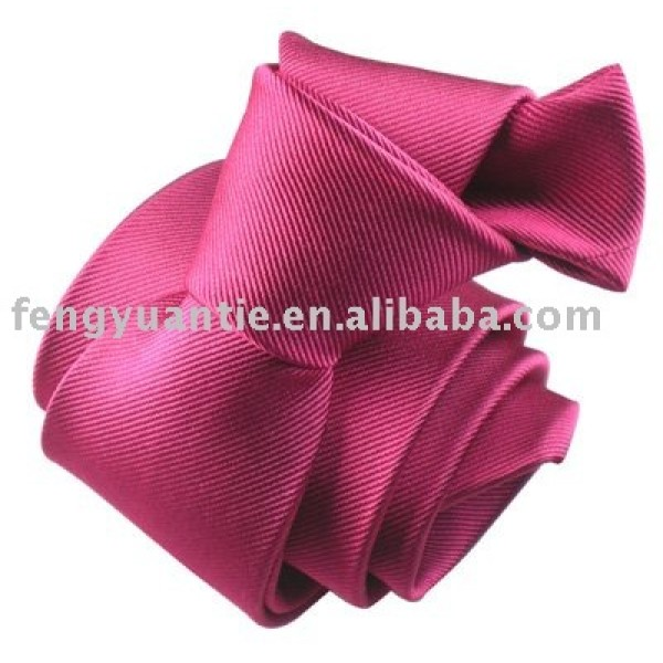 corbata de seda llana