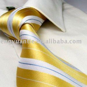 italienische gesponnene Krawatten des Streifens 100 der Art goldene Seide