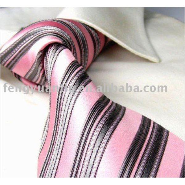 corbata de seda tejida, corbata del diseñador, lazos de la marca