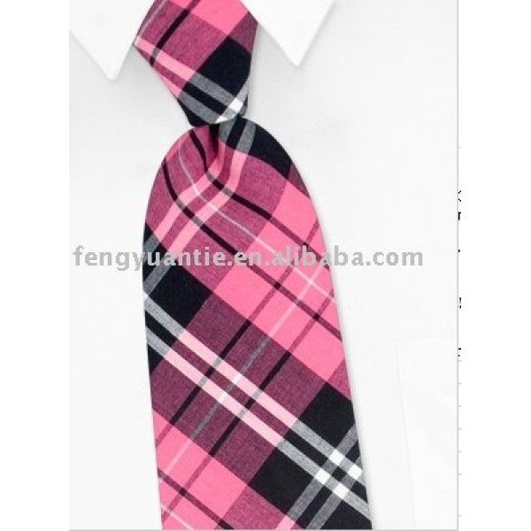 estilo británico de color rosa de seda tejido corbatas personalizado