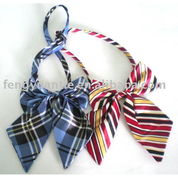 plaid arco raya corbata corbata de lazo de dama de corbata de lazo