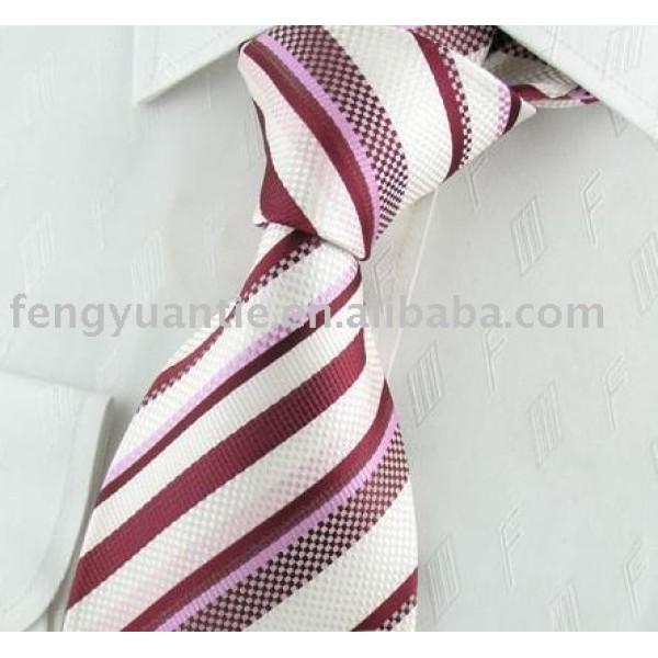 alto quanlity raya de seda tejida corbata