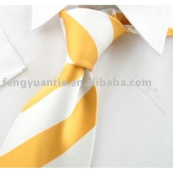 cravates en soie de soie de mens de raie jaune