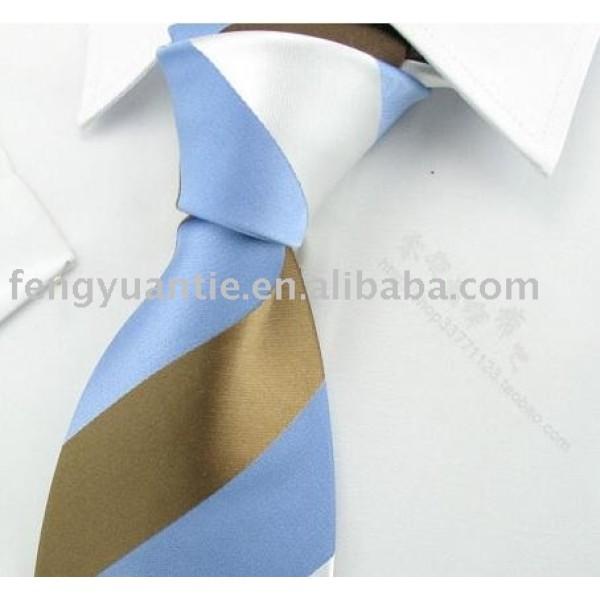 cravates de soie de mens de raie bleue