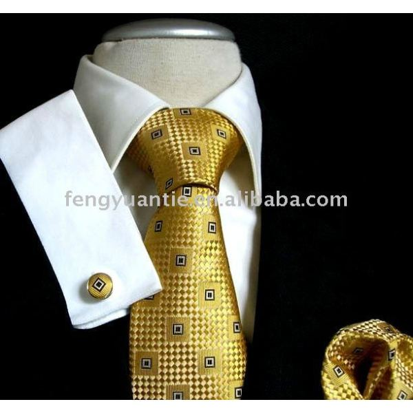 corbata de seda tejida