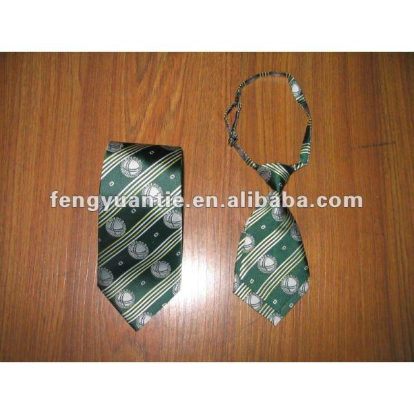 cravate en soie de logo de nom de marque, cravate