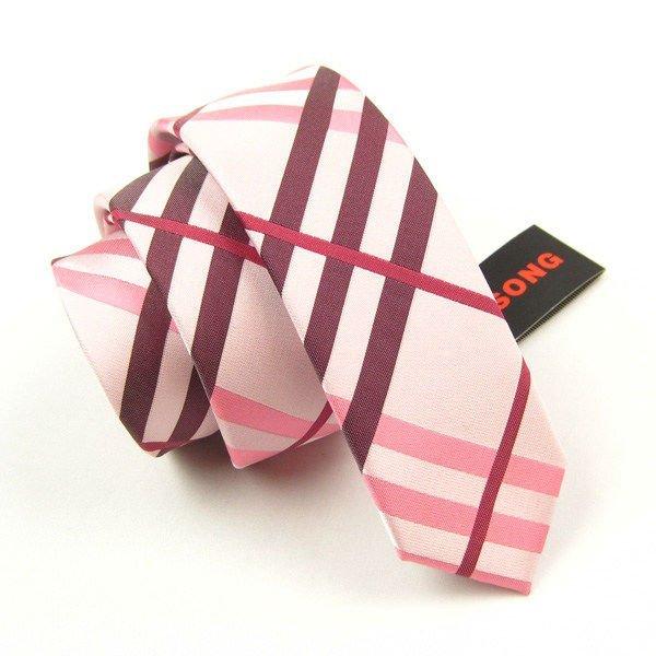 cravate maigre de logo de compagnie de mode
