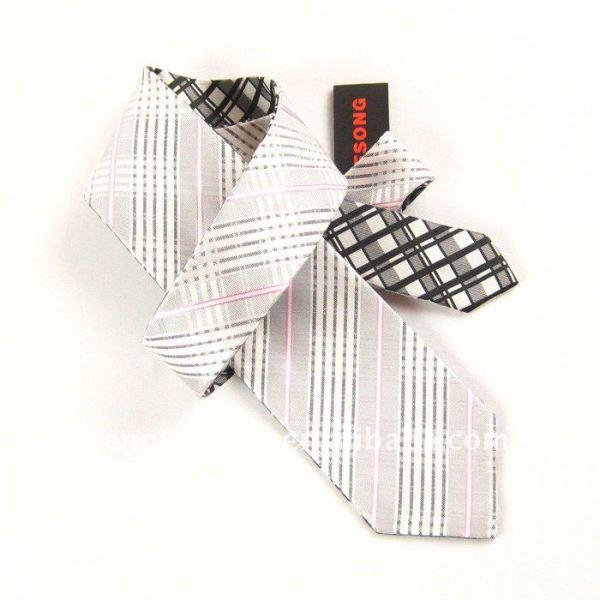 Reversible de corbata de seda, corbata